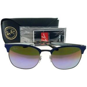 RB3538-9005A9-53 Unisex Blue Frame Sunglasses